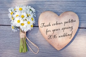 Fresh colour palettes for your spring 2016 wedding!